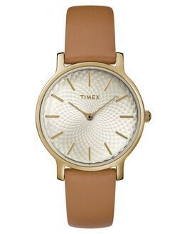 SILVER TAN OUTLET WOMENS TIMEX WATCHES - TW2R91800SILTN