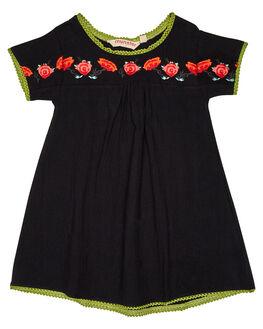 BLACK KIDS TODDLER GIRLS MUNSTER KIDS DRESSES - MM181DR02BLK