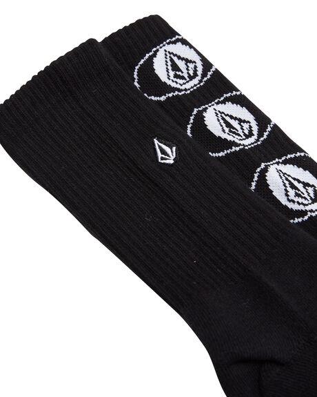BLACK MENS CLOTHING VOLCOM SOCKS + UNDERWEAR - D6302003BLK