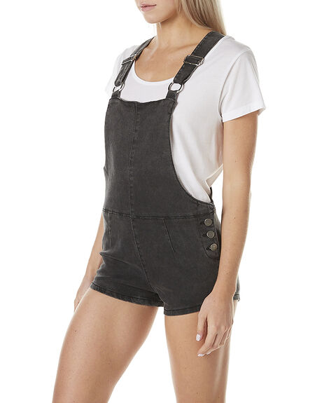 STONE BLACK WOMENS CLOTHING AFENDS PLAYSUITS + OVERALLS - 51-02-074BLK