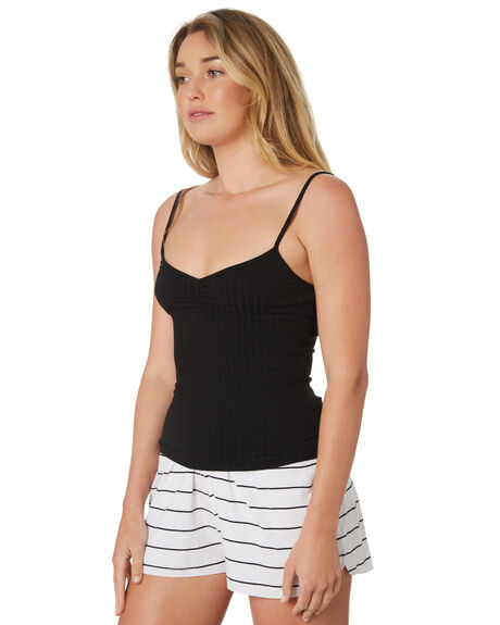 BLACK WOMENS CLOTHING SWELL SINGLETS - S8189271BLACK