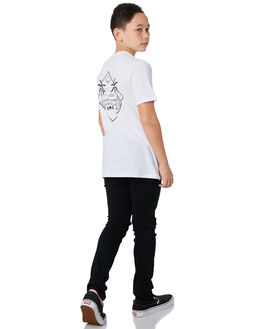 WHITE KIDS BOYS SWELL TOPS - S3193005WHITE