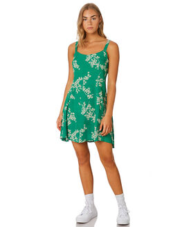 GRASS GREEN WOMENS CLOTHING THE HIDDEN WAY DRESSES - H8201449GRN