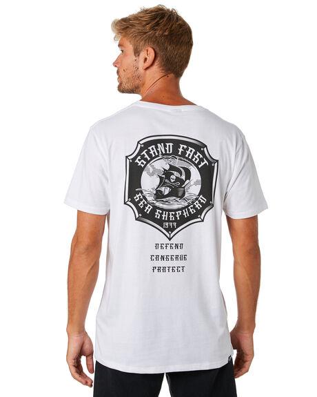 WHITE MENS CLOTHING SEA SHEPHERD TEES - SSA884BWHT