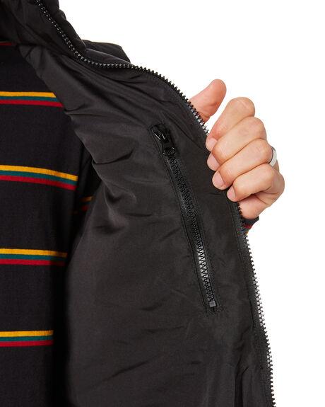 BLACK MENS CLOTHING RPM JACKETS - 20AM26A2BLACK