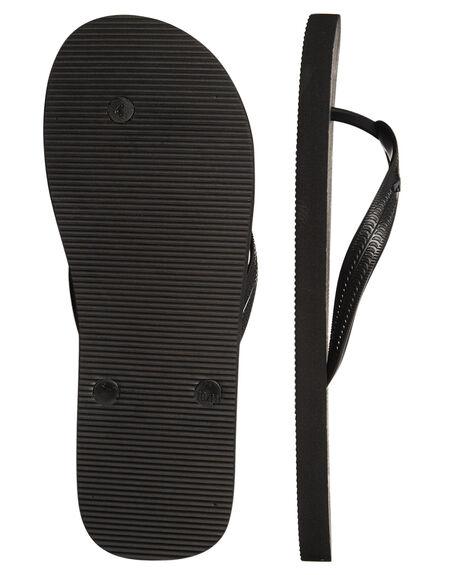 BLACK WOMENS FOOTWEAR RUSTY THONGS - FOM0315BLK