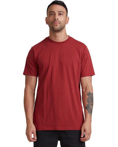 ROSEWOOD MENS CLOTHING RVCA TEES - R105050-RWD