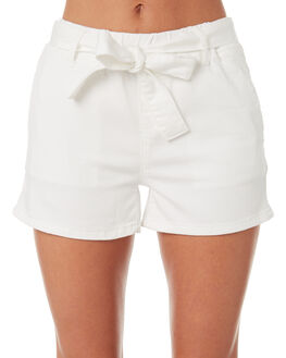 WHITE WOMENS CLOTHING BETTY BASICS SHORTS - BB808S18WHT