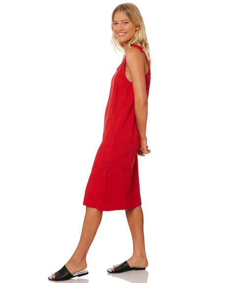 RED WOMENS CLOTHING RPM DRESSES - 8SWD04BRED