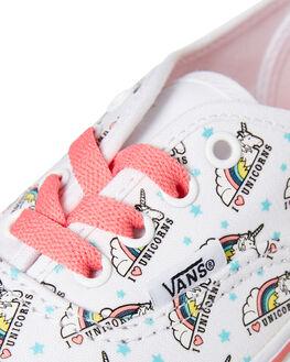 WHITE PINK KIDS GIRLS VANS SNEAKERS - VNA38H3VI9WPNK