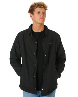 BLACK MENS CLOTHING ADELIO JACKETS - CWCJBLK