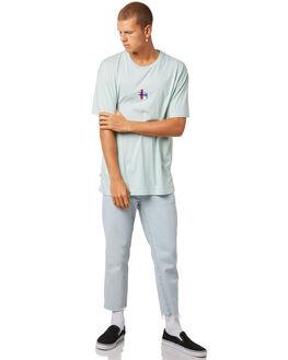 POWDER BLUE MENS CLOTHING STUSSY TEES - ST073014PBLU