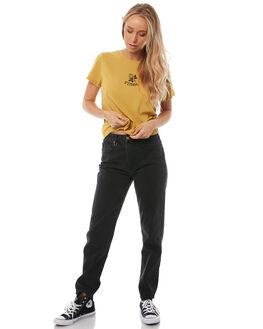 VINTAGE YELLOW WOMENS CLOTHING THRILLS TEES - WTA8-128KVYELL