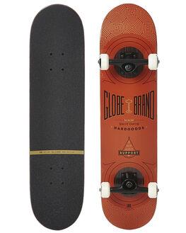 BURNT RED SKATE COMPLETES GLOBE  - 10525212BRNRD
