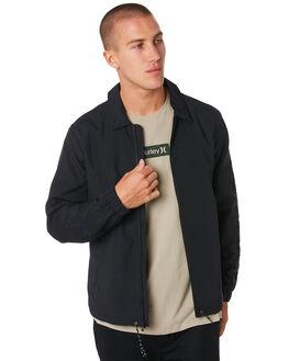 BLACK MENS CLOTHING HURLEY JACKETS - AV8065010