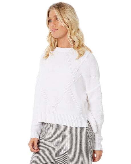 WHITE WOMENS CLOTHING ELWOOD KNITS + CARDIGANS - W83404-653
