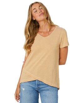 HONEY STRIPE WOMENS CLOTHING BETTY BASICS TEES - BB344T20HSTP