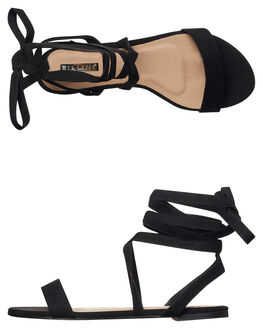 BLACK SUEDE WOMENS FOOTWEAR BILLINI FASHION SANDALS - S499BLKSD