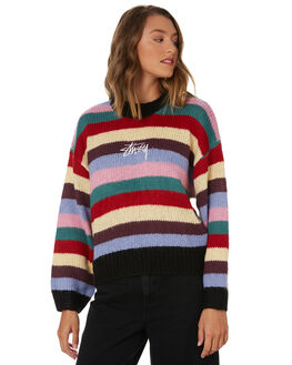 MULTI WOMENS CLOTHING STUSSY KNITS + CARDIGANS - ST106306MULTI