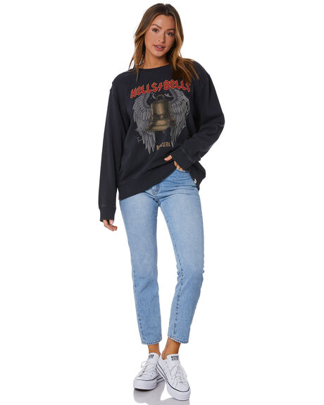 WASHED BLACK WOMENS CLOTHING RIP CURL JUMPERS - GFECS98264
