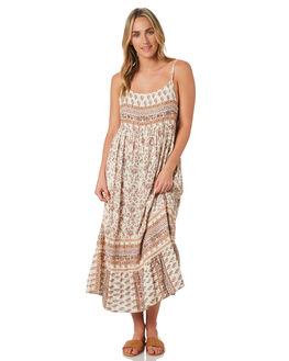 PEACH FLORAL WOMENS CLOTHING O'NEILL DRESSES - 4821602PFL