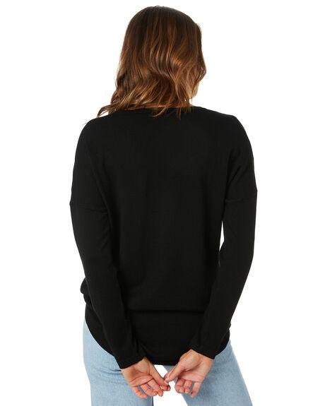 BLACK WOMENS CLOTHING BETTY BASICS KNITS + CARDIGANS - BB440H20BLK