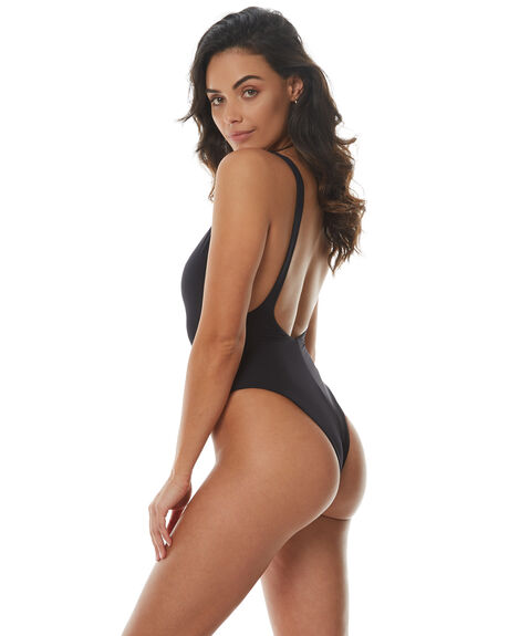 BLACK WOMENS SWIMWEAR SEAFOLLY ONE PIECES - 10761-058BLK