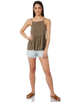 KHAKI WOMENS CLOTHING ALL ABOUT EVE FASHION TOPS - 6424037KHAK