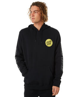 BLACK MENS CLOTHING SANTA CRUZ JUMPERS - SC-MFA8802BLK