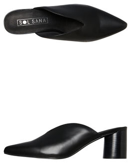 BLACK WOMENS FOOTWEAR SOL SANA HEELS - SS192W421BLK