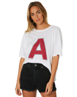 WHITE WOMENS CLOTHING A.BRAND TEES - 71446-001