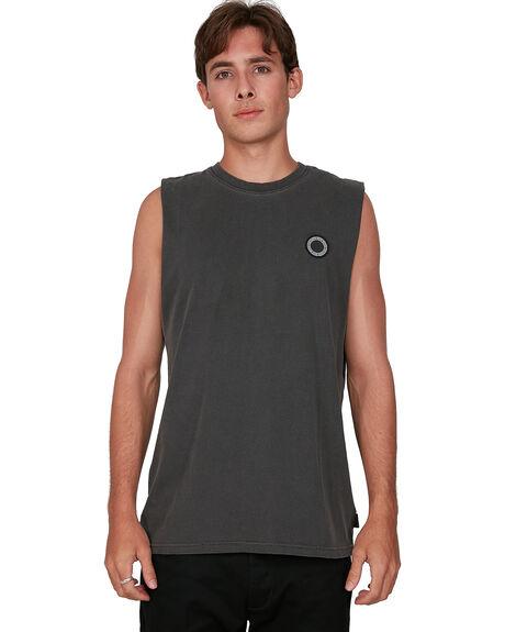 BLACK RINSE MENS CLOTHING ELEMENT SINGLETS - EL-105271-2BR