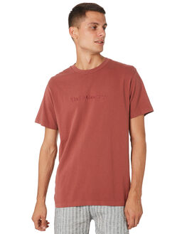 FADED RED MENS CLOTHING THRILLS TEES - TH9-104HFDRED
