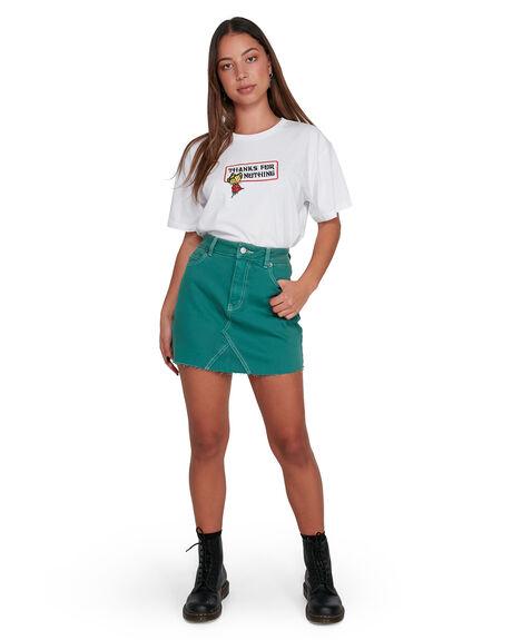 STORM GREEN WOMENS CLOTHING RVCA SKIRTS - RV-R405831-SRN