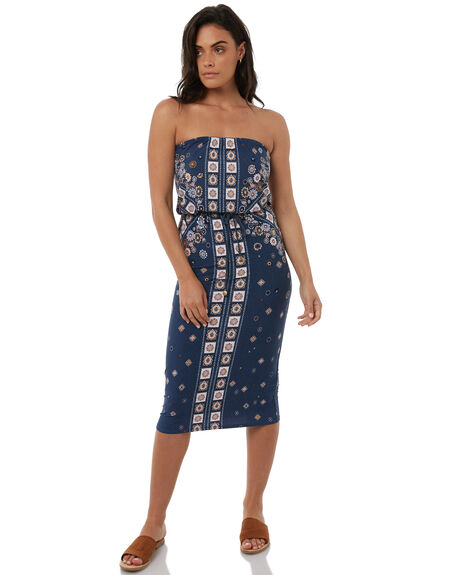 STEEL WOMENS CLOTHING TIGERLILY DRESSES - T383438STEEL