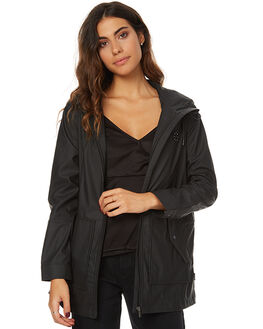 BLACK WOMENS CLOTHING RPM JACKETS - 7AWT19BBLK