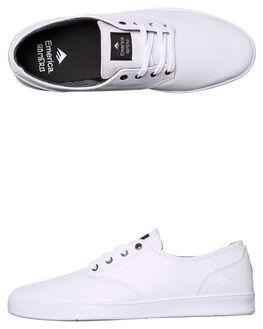 WHITE WHITE MENS FOOTWEAR EMERICA SKATE SHOES - 6102000089-180