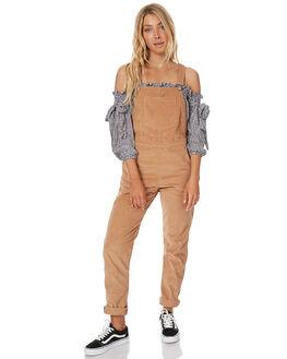 CARAMEL WOMENS CLOTHING RUE STIIC PLAYSUITS + OVERALLS - CC41CAR