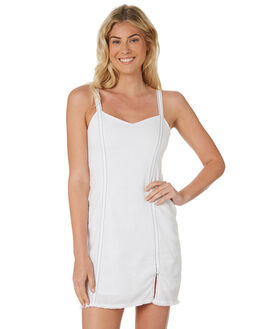 WHITE WOMENS CLOTHING NUDE LUCY DRESSES - NU23477WHT