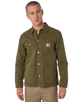 ROVER GREEN MENS CLOTHING CARHARTT JACKETS - I024849RGRN