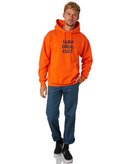 SAFETY ORANGE MENS CLOTHING SURF IS DEAD JUMPERS - SD18HD6-01SFORG