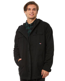 BLACK MENS CLOTHING ZOO YORK JACKETS - ZY-MJA8106BLK