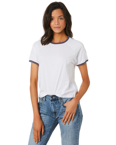 WHITE WOMENS CLOTHING THE HIDDEN WAY TEES - H8189002WHITE