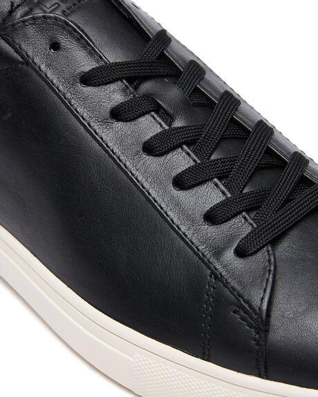 BLACK LEATHER MENS FOOTWEAR CLAE FASHION SHOES - CL20CBR08BLA
