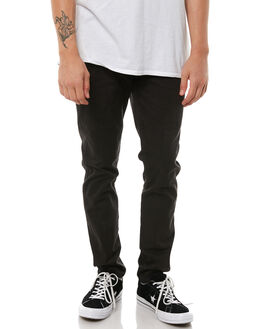 BLACK MENS CLOTHING ACADEMY BRAND PANTS - 18W104BLK