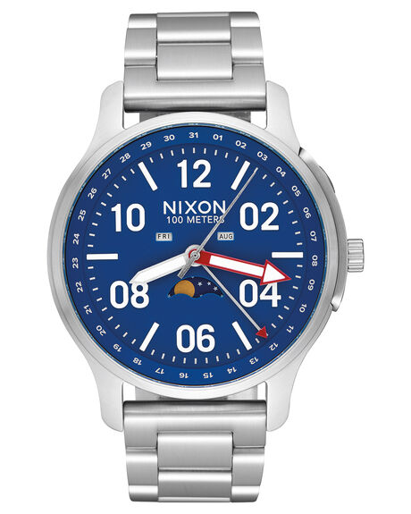 SILVER BLUE MENS ACCESSORIES NIXON WATCHES - A1208722