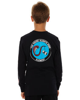 FLINT BLACK KIDS BOYS ELEMENT TEES - 376053ABLK