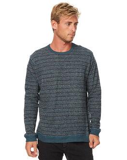 INDIGO STRIPE MENS CLOTHING MOLLUSK JUMPERS - MS1371INDS