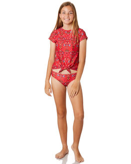 RED KIDS GIRLS SEAFOLLY SWIMWEAR - 27105-115RED