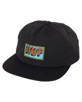 BLACK MENS ACCESSORIES HUF HEADWEAR - HT00139BLK